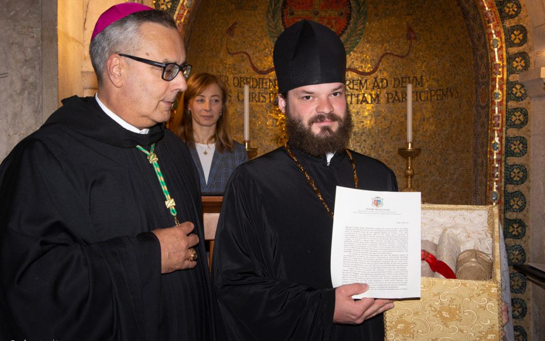 Al Sacro Speco l'Abate Meacci di Subiaco incontra l'Igumeno Filippov di Sumarokovo (Mosca)