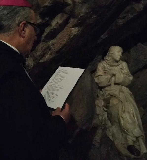 Nella vigilia del Transito di San Benedetto l'abate di Subiaco al Sacro Speco prega per la fine della pandemia