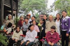 Avec les handicapées voisines